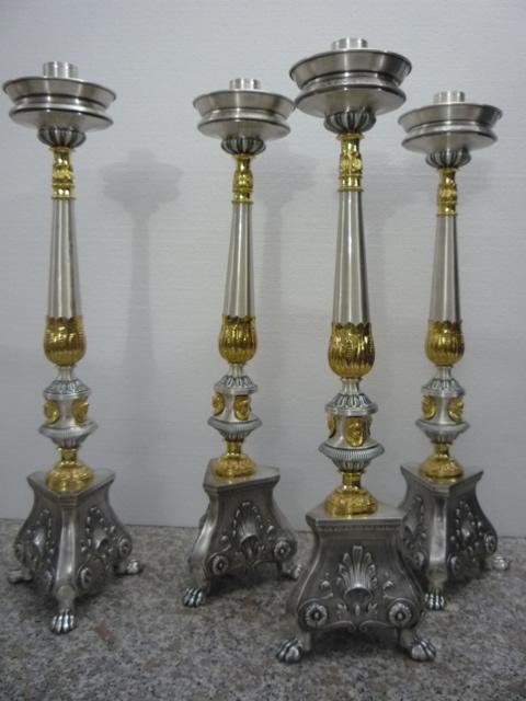candeliere messa restaurato